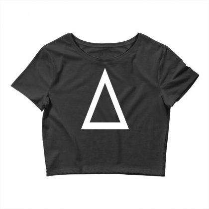 Prism A Triangle Design Graphic Baseball Jersey Crop Top Designed By Ririn