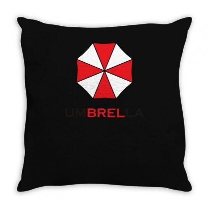 Resident Evil Logo Umbrella Corporation Zombie Videogames Throw Pillow Designed By Ririn