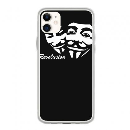 Revolution Anonymous  Maske V Wie Vendetta Fun Iphone 11 Case Designed By Ririn