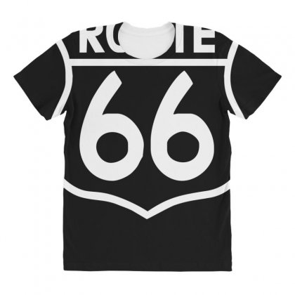 Route 66 Stampa Bianca Starda America Sport All Over Women's T-shirt Designed By Ririn