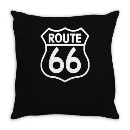 Route 66 Stampa Bianca Starda America Sport Throw Pillow Designed By Ririn