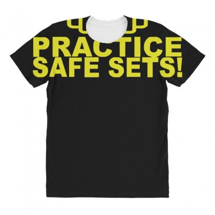 Safe Sex Train Gym Workout Funny Gift All Over Women's T-shirt Designed By Ririn