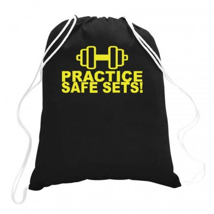 Safe Sex Train Gym Workout Funny Gift Drawstring Bags Designed By Ririn