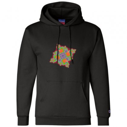 Square Fractal Spiral Champion Hoodie Designed By Zykkwolf