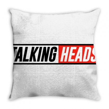 Talking Heads Logo Throw Pillow Designed By Helloshop