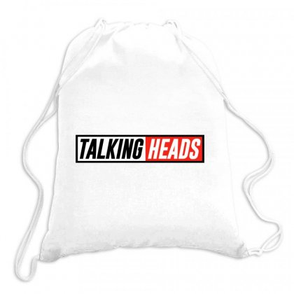 Talking Heads Logo Drawstring Bags Designed By Helloshop