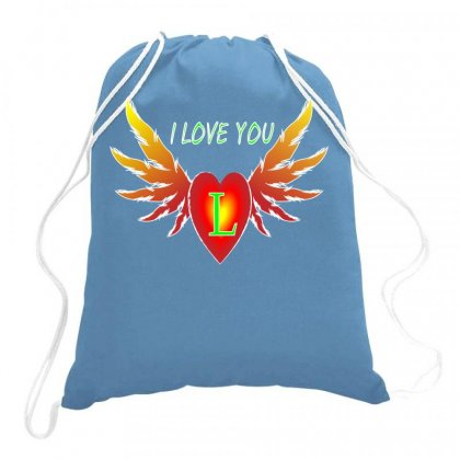 L=valentine Day Drawstring Bags Designed By Arfa