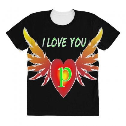 P-valentine Day All Over Women's T-shirt Designed By Arfa