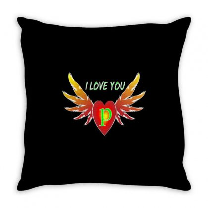 P-valentine Day Throw Pillow Designed By Arfa