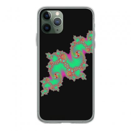 Fractal Green Cloud Iphone 11 Pro Case Designed By Zykkwolf