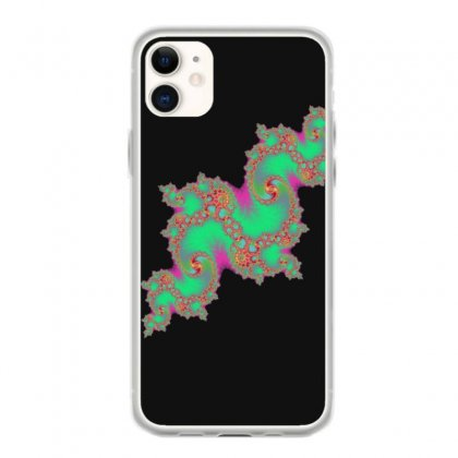 Fractal Green Cloud Iphone 11 Case Designed By Zykkwolf
