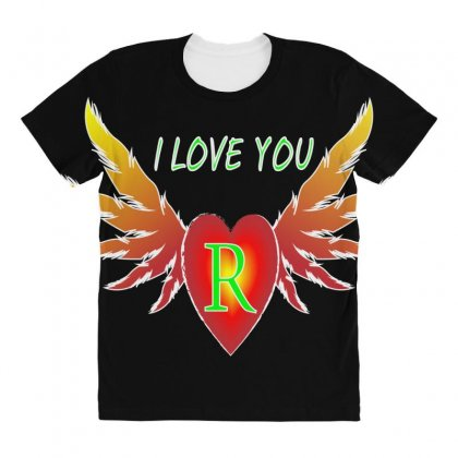 R-valentine Day All Over Women's T-shirt Designed By Arfa