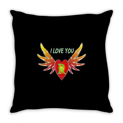 R-valentine Day Throw Pillow Designed By Arfa