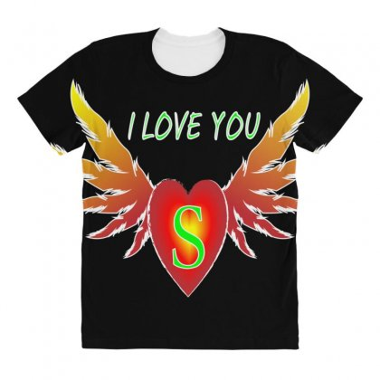 S-valentine Day All Over Women's T-shirt Designed By Arfa