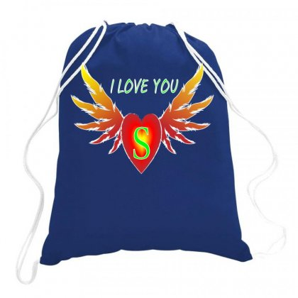 S-valentine Day Drawstring Bags Designed By Arfa