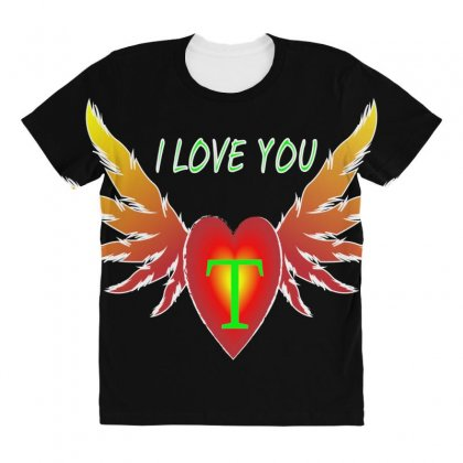 T-valentine Day All Over Women's T-shirt Designed By Arfa