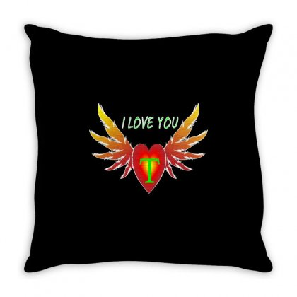 T-valentine Day Throw Pillow Designed By Arfa