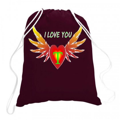 T-valentine Day Drawstring Bags Designed By Arfa