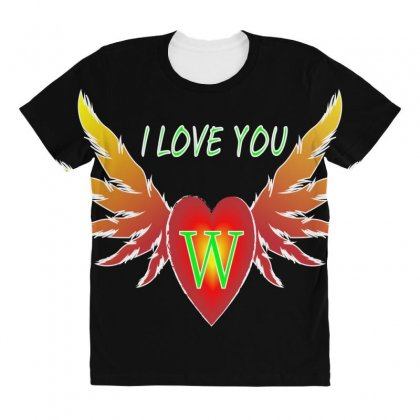 W-valentine Day All Over Women's T-shirt Designed By Arfa