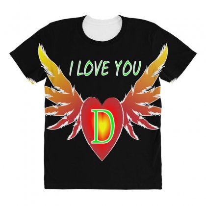 D-valentine Day All Over Women's T-shirt Designed By Arfa