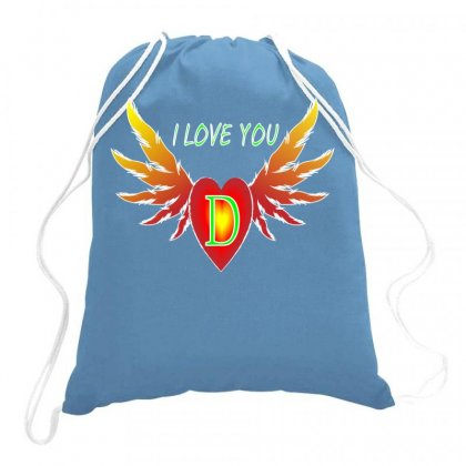 D-valentine Day Drawstring Bags Designed By Arfa