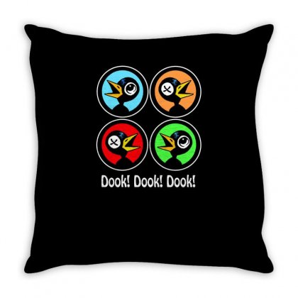 Dook! Dook! Dook! Drinky Crow Throw Pillow Designed By Aheupote