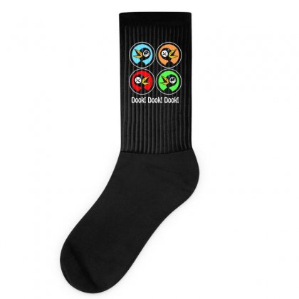 Dook! Dook! Dook! Drinky Crow Socks Designed By Aheupote