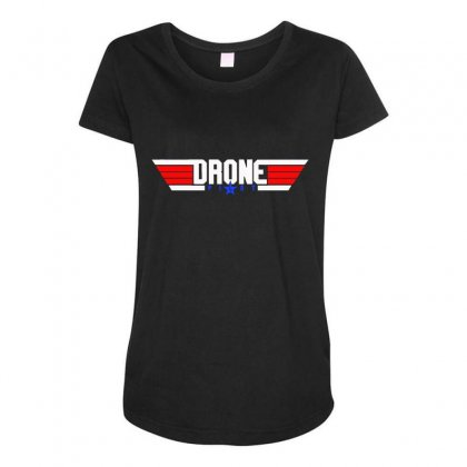 Drone Pilot Flying Ace Remote Control Maternity Scoop Neck T-shirt Designed By Aheupote