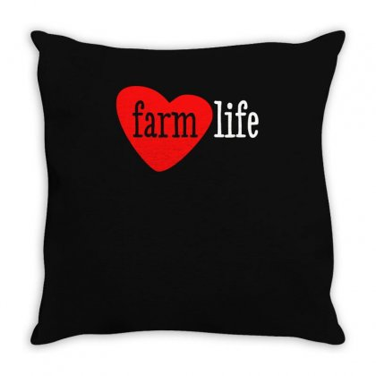 I Heart Farm Life Throw Pillow Designed By Aheupote
