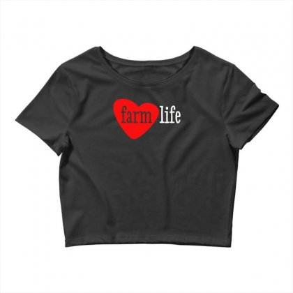 I Heart Farm Life Crop Top Designed By Aheupote