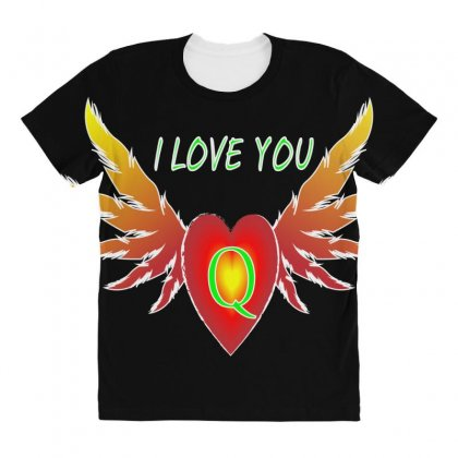 Q-valentine Day All Over Women's T-shirt Designed By Arfa