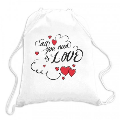 I Love You Drawstring Bags Designed By Estore