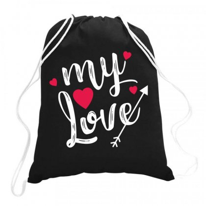 My Love Drawstring Bags Designed By Estore