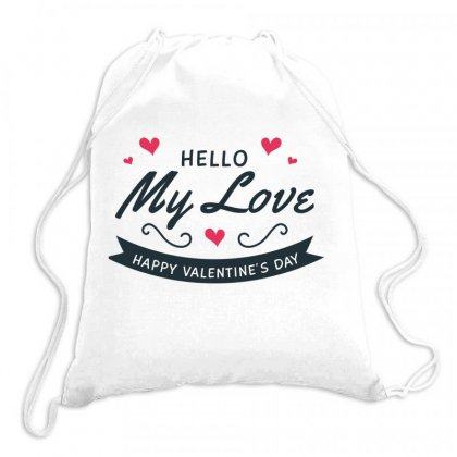 My Love, Happy Valentines Day Drawstring Bags Designed By Estore