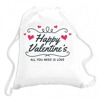 Happy Valentines Day Drawstring Bags Designed By Estore