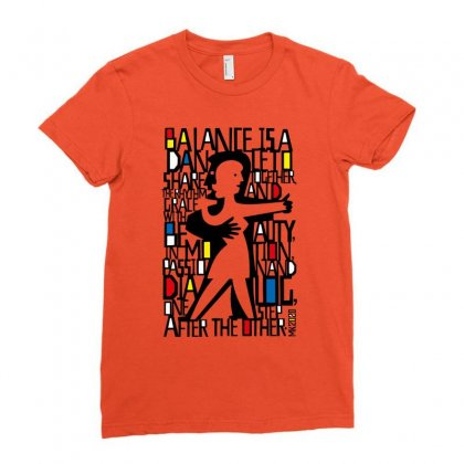 Dance Music Dancers Ladies Fitted T-shirt Designed By Designisfun