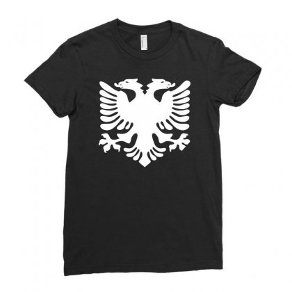 Albania Ladies Fitted T-shirt Designed By Ririn