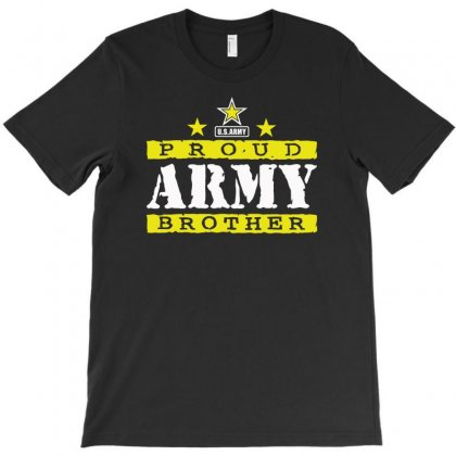 Proud Army Brother T-shirt Designed By Aheupote
