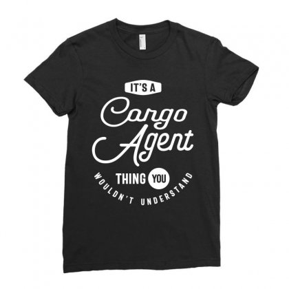 Cargo Agent Work Job Title Gift Ladies Fitted T-shirt Designed By Cidolopez