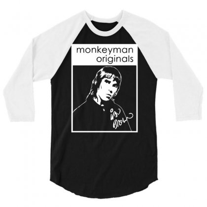 Ian Brown Tribute 3/4 Sleeve Shirt Designed By Isma