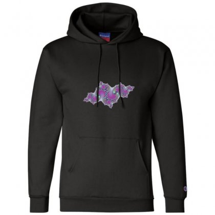 Fractal Symetrical Spiral Cloud Champion Hoodie Designed By Zykkwolf