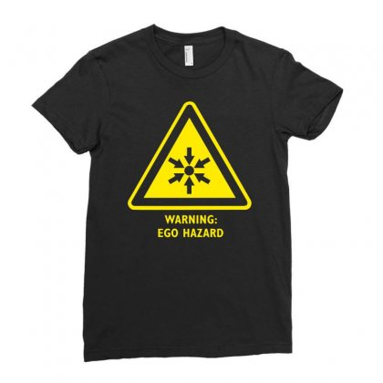 Ego Hazard Warning Sign Ladies Fitted T-shirt Designed By Isma