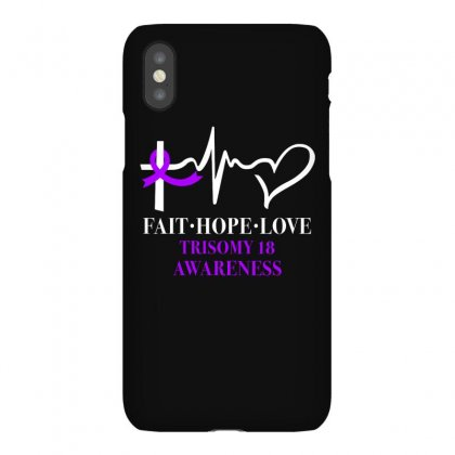Faith Hope Love Trisomy 18 Awareness For Dark Iphonex Case Designed By Gurkan