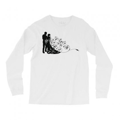 Bride And Groom Long Sleeve Shirts Designed By Nona Harf
