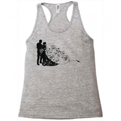 Bride And Groom Racerback Tank Designed By Nona Harf