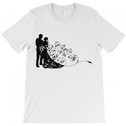 Bride And Groom T-shirt Designed By Nona Harf