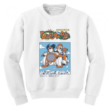 Goku And Roshi Youth Sweatshirt Designed By Paísdelasmáquinas
