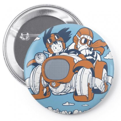 Goku And Roshi Pin-back Button Designed By Paísdelasmáquinas