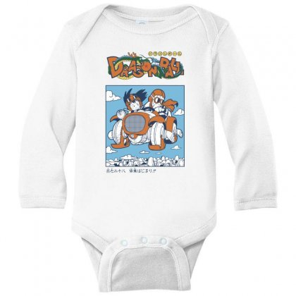 Goku And Roshi Long Sleeve Baby Bodysuit Designed By Paísdelasmáquinas