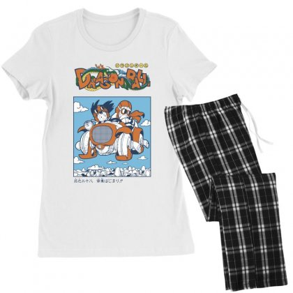 Goku And Roshi Women's Pajamas Set Designed By Paísdelasmáquinas